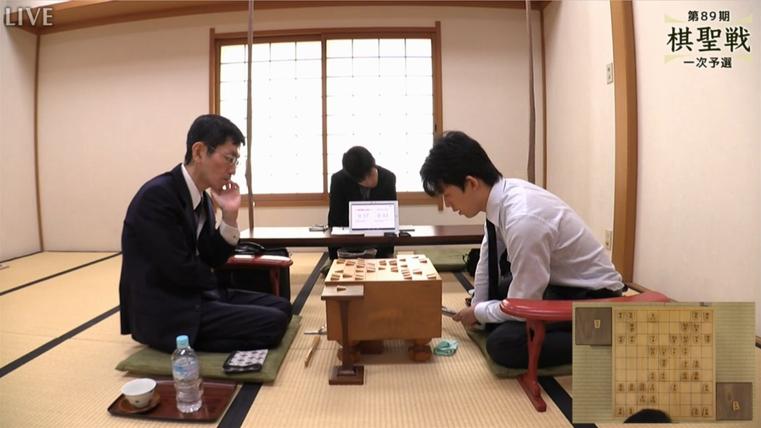 藤井聡太四段VS西川慶二七段