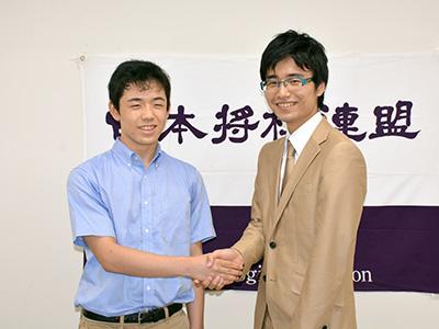 大橋貴洸六段と藤井聡太七段(現二冠)