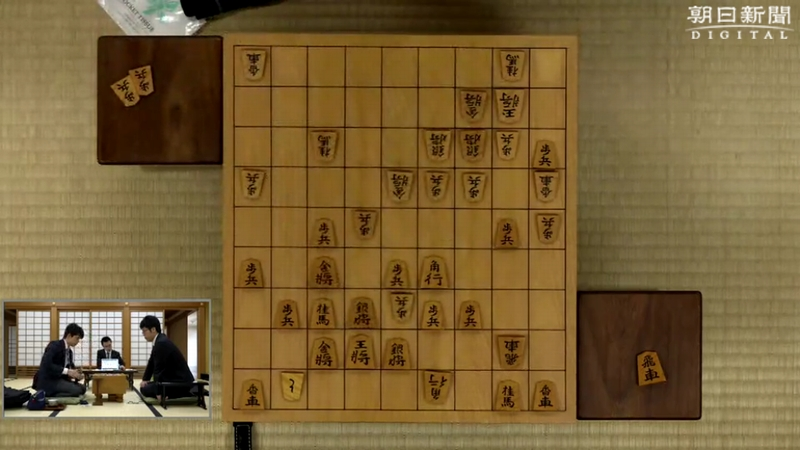 11時52分頃棋譜朝日杯