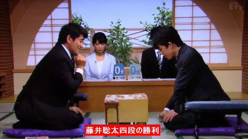 9月3日NHK杯森内俊之九段VS藤井聡太四段