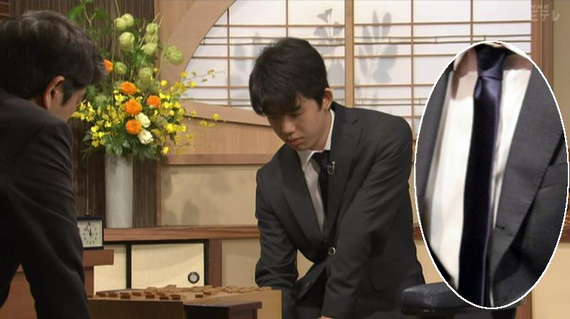 9月3日NHK杯藤井四段ネクタイ