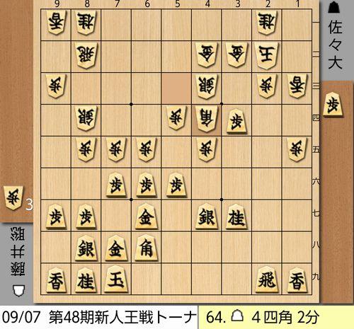 新人王戦64手目棋譜