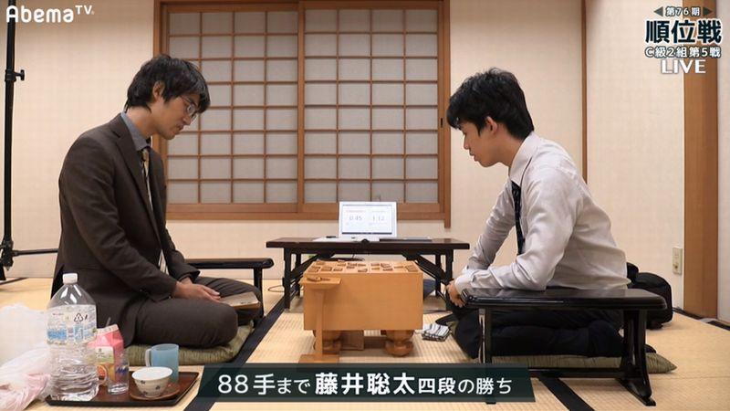 順位戦藤井聡太四段勝利20171012