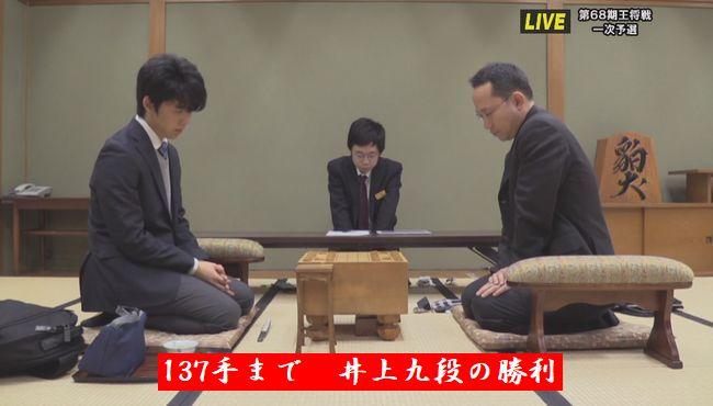 藤井聡太六段VS井上慶太九段【第68期王将戦】(2018/3/28)速報!結果