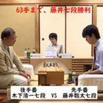 藤井聡太七段VS木下浩一七段【第4期叡王戦】(2018/8/11)速報!結果!