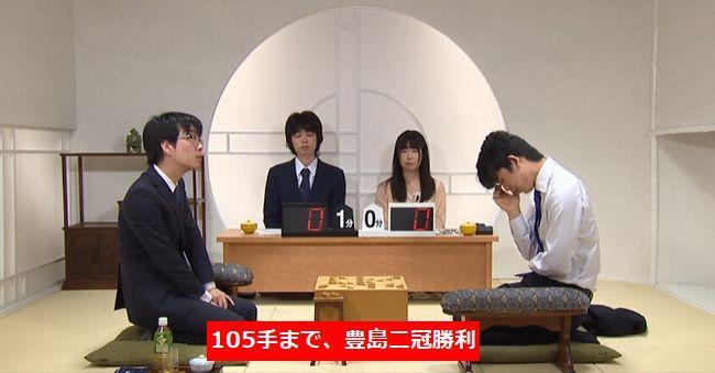 藤井聡太七段VS豊島将之二冠【第27期銀河戦】(2019/7/23)速報!結果