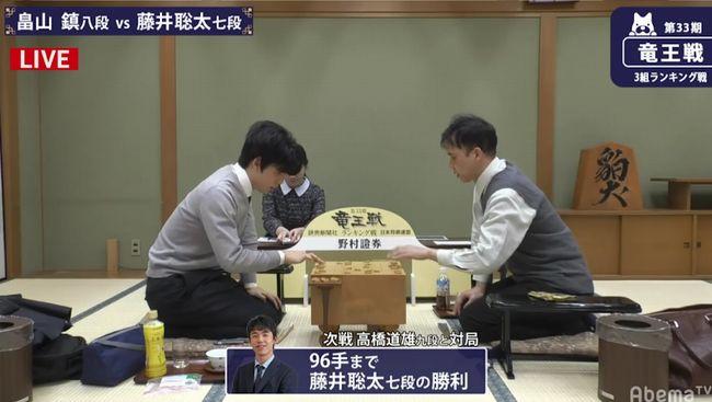 藤井聡太七段VS畠山鎮八段※結果・速報【第33期竜王戦】(2020/1/24)