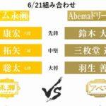 藤井聡太七段vs広瀬章人八段※結果・速報【第3回Abemaトーナメント】(2020/6/14)