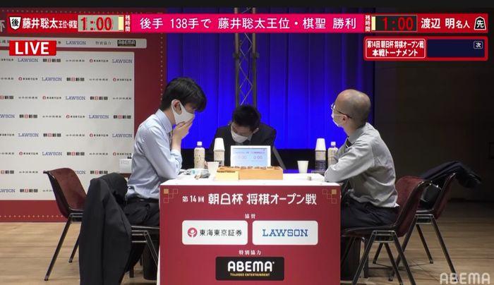 藤井聡太二冠vs渡辺明名人※速報・結果【第14回朝日杯】(2021/2/11)