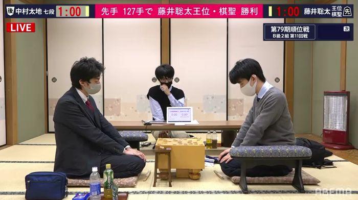 藤井聡太二冠VS中村太地七段※速報・結果【順位戦B2】(2021/3/10)