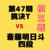 藤井聡太二冠VS斎藤明日斗四段【第47期棋王戦】(対局日未定)成績・中継情報